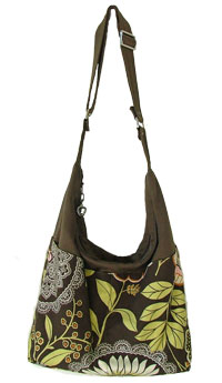 Snazzy Slouch in Amy Butler fabric - PDF handbag pattern by ChrisW Designs