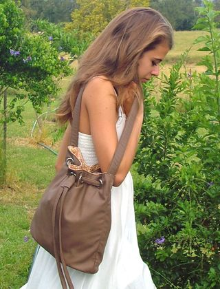 faux leather handbag by ChrisW Designs - a pdf sewing pattern