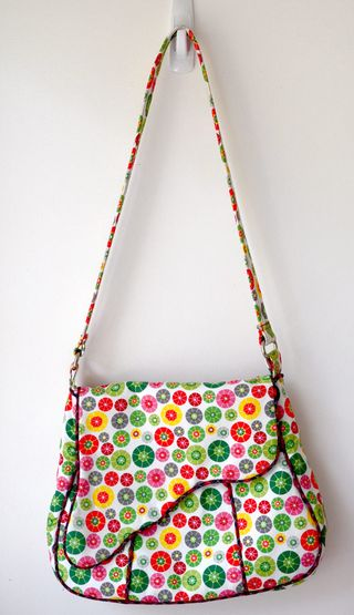 Bag with shaped flap - a ChrisW designs bag pdf pattern