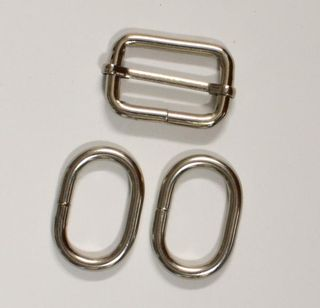 Slider and Oval Rings for making an adjustable strap