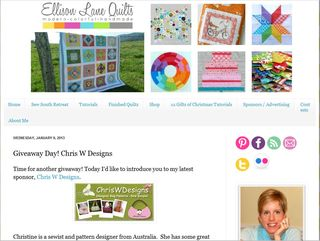 Ellison Lane Quilts hosting a ChrisW Designs giveaway!
