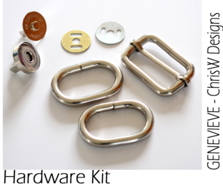 Hardware kit in Nickel for GENEVIEVE
