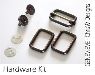 Gunmetal hardware kit for Genevieve!