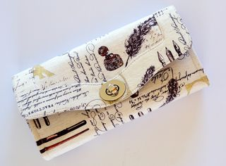 The Necessary Clutch Wallet by Janelle of Emmaline Bags.