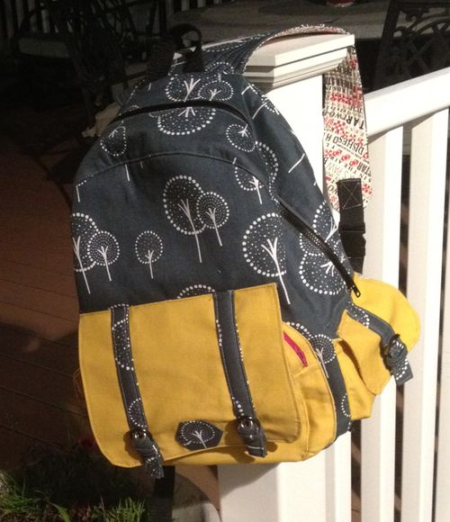 Dawn To Dusk crafted by Nancy - A ChrisW Designs pdf backpack sewing pattern