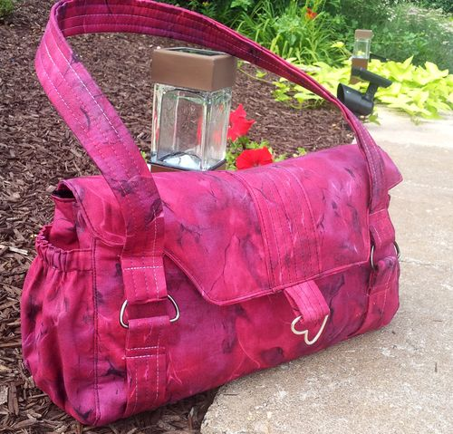 Evelyn crafted by Robin - A ChrisW Designs Designer handbag sewing pattern