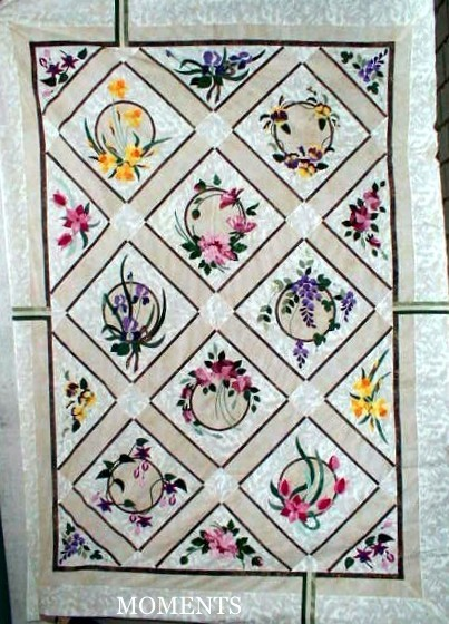 "My Floral Windows"" quilt pattern by Dianne Johnston"