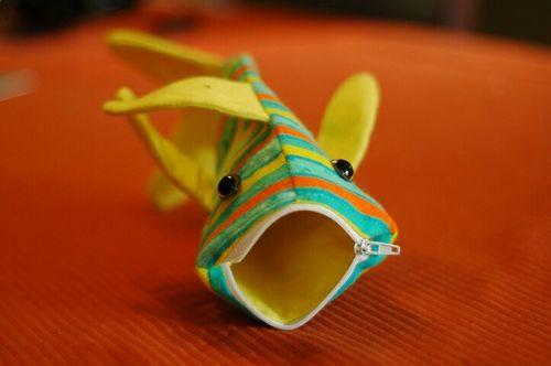 Shark pouch by NissaMade