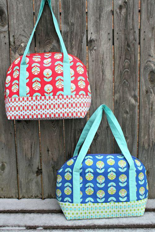Aeroplane bags Pattern by Sara of Sew Sweetness