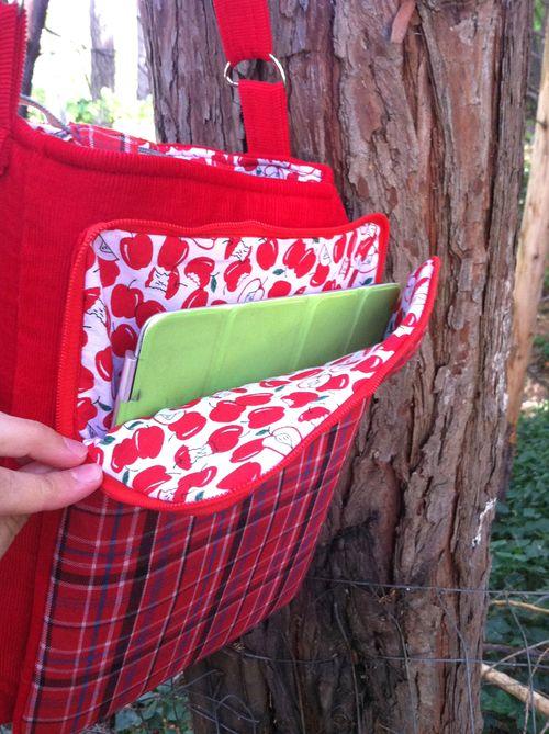 Serena's iPad pocket view of the Lombard Street bag