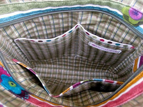 View of the interior - Lombard Street Bag - |Crafted by Liz of Moments