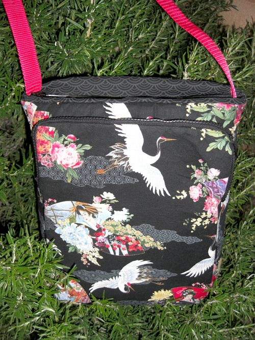 The Back of Patricia's Lombard Street Bag - a ChrisW Designs PDF sewing pattern!