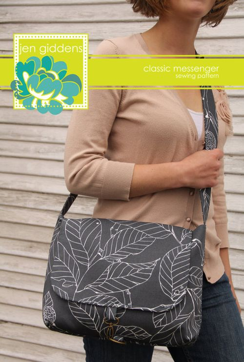 Classic Messenger by Jen Giddens - A Messenger bag sewing pattern
