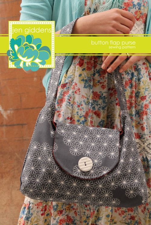 Button Flap Purse - Jen Giddens