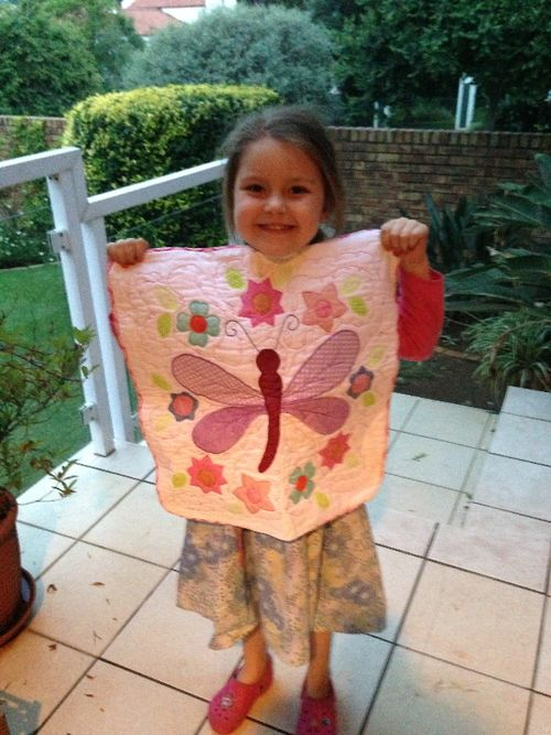 Kayla's Monica Poole Dragonfly Cushion
