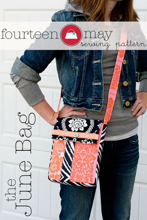 The June Bag - A PDF Bag sewing pattern by Melissa Mortenson