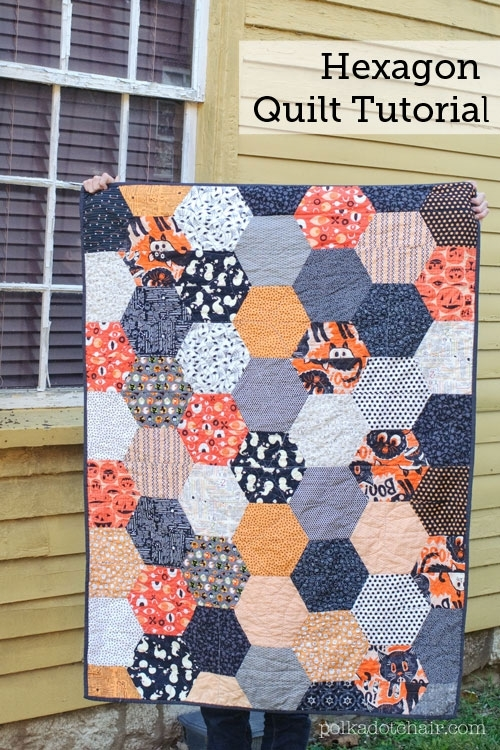 Large Hexagon Quilt Tutorial by Melissa Mortenson
