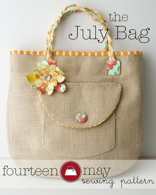the July Bag- A PDF Bag sewing pattern by Melissa Mortenson