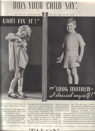 1932 children talon ad