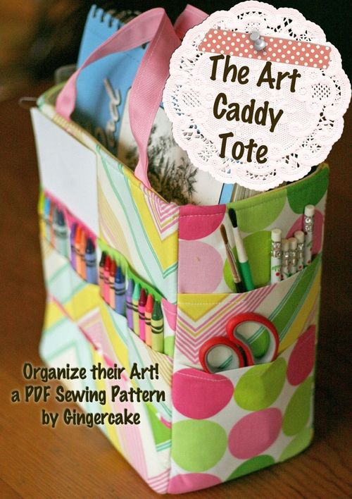 The Art Caddy Tote by Gingercake