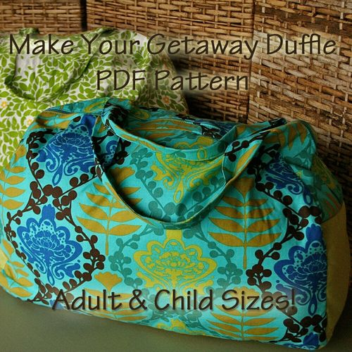 Duffle Bag PDF Pattern by Virginia Lindsay of Gingercake Patterns