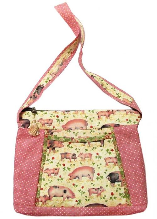 Pig and Polka Dot Bag by Henrietta Timmons of Henny Penny Patterns
