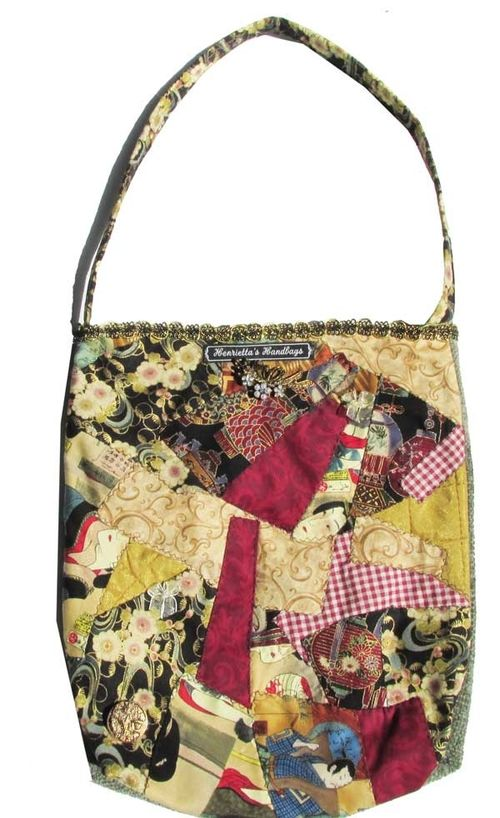Crazy Quilt Experimentation Bag by Henrietta Timmons