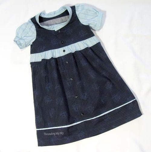 Shirt Dress by Pam of Threading My Way