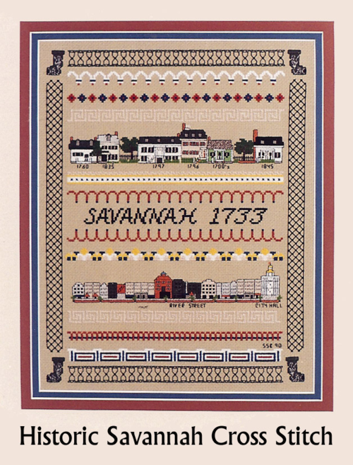 Historic Savannah House CrossStitch