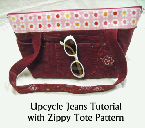 Upcycle Jeans Tutorial by Sidney Brand
