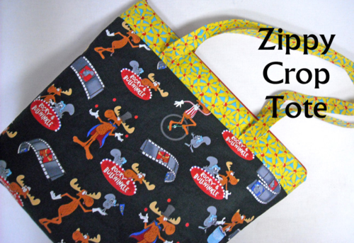 Zippy Crop Tote by Sid's In Stitches