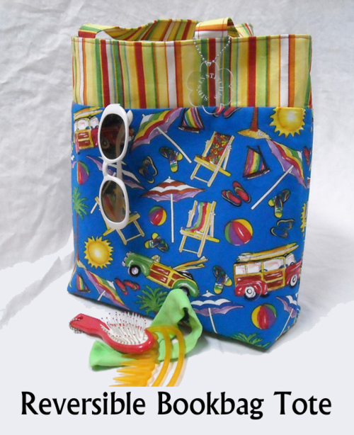 Reversible Bookbag Tote - a beginners Pattern!