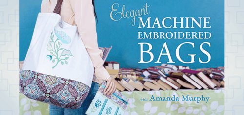 Elegant Machine Embroidered bags Craftsy Class