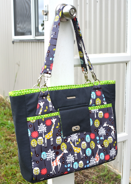 The Stow It All tote bag pattern by ChrisW Designs