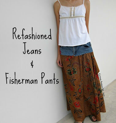 Refashioned Jeans and Fisherman's Pants