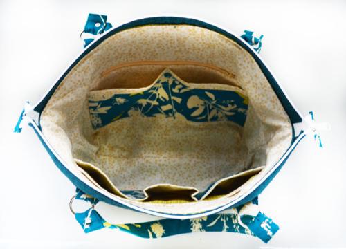 Interior of my Advanced City Slicker bag Pattern