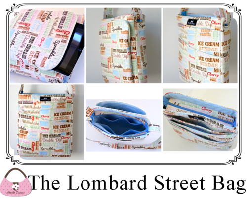 Lombard Street Collage - A ChrisW Designs bag sewing pattern