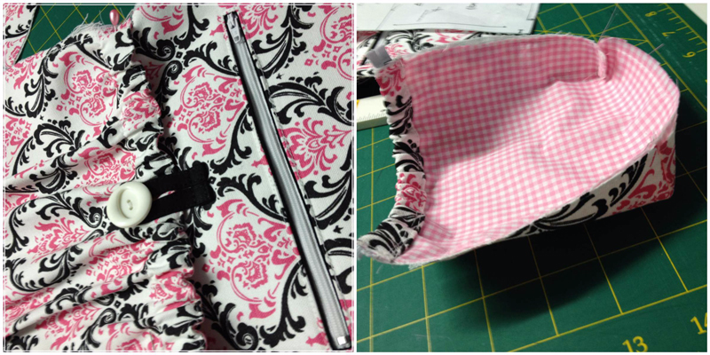 Pics 17 & 18 of the Amy backpack Sew Along
