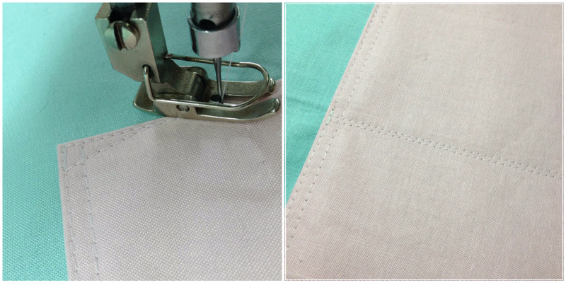 Stitching the Slip Pockets