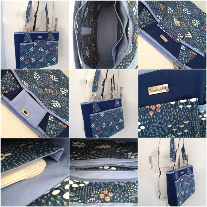Ellen's completed Stow It All Tote