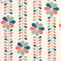 Cream-birch-organic-fabric-with-flower-stems-coral-USA