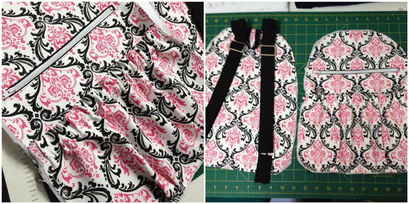 Pics 15 & 16 of the Amy backpack Sew Along with Ellen