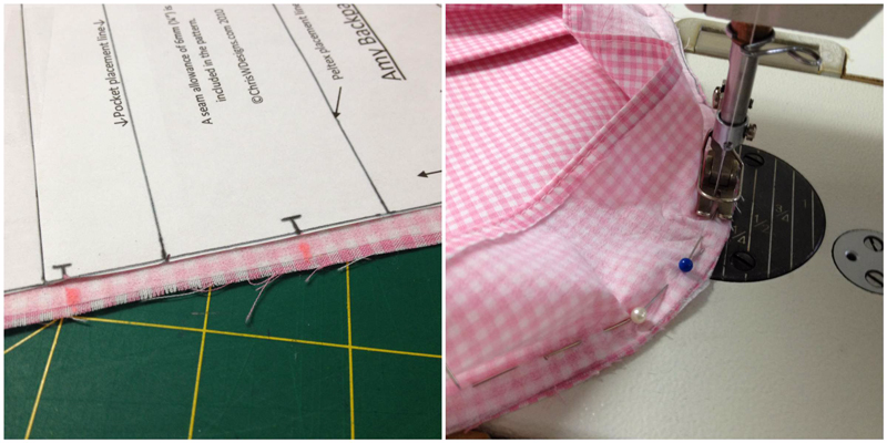 The Amy Backpack Sew Along - Pics 29 and 30