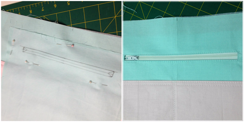 Uptown Girl Sew Along Zip pocket