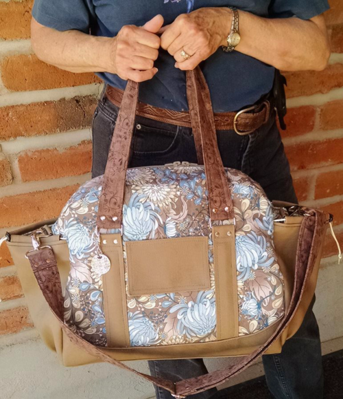 Judith's Half Moon bag from the Lunar Collection by ChrisW Designs