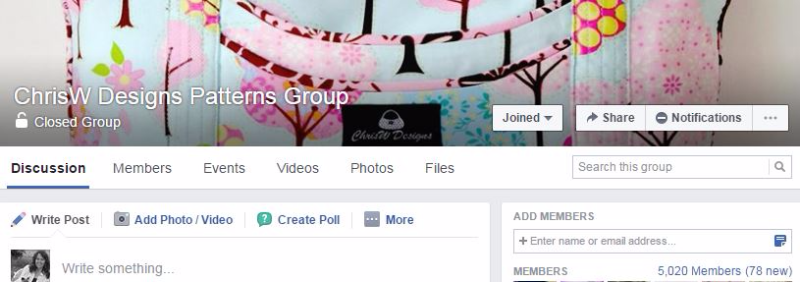 ChrisW Designs Facebook Group
