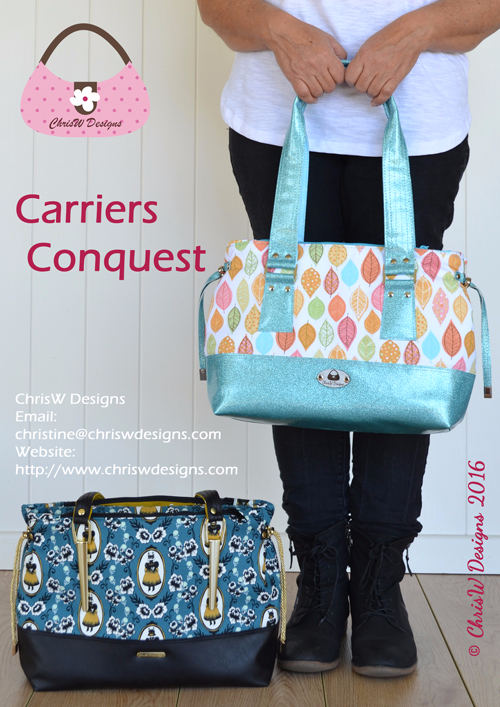 The Carriers Conquest - A ChrisW Designs Designer Bag Sewing Pattern