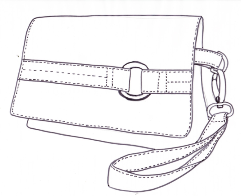 The Kiss Clutch - a PDF clutch sewing pattern by ChrisW Designs