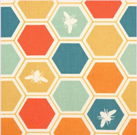 Colourful-bee-honeycomb-organic-fabric-by-birch-from-the-USA