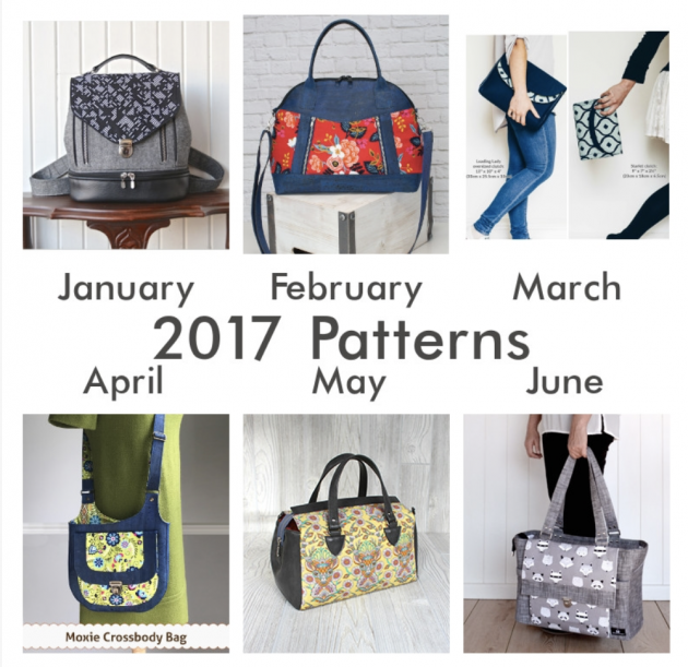 Bag of the Month Club Patterns from 2017